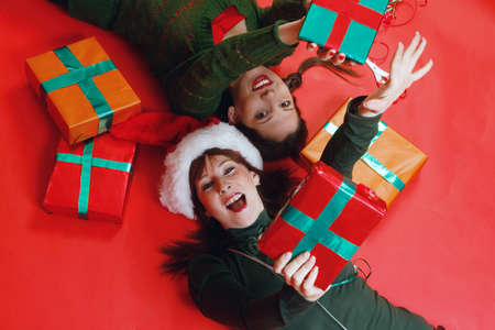 Two young women, getting ready for Christmas Stock Photo - 912420
