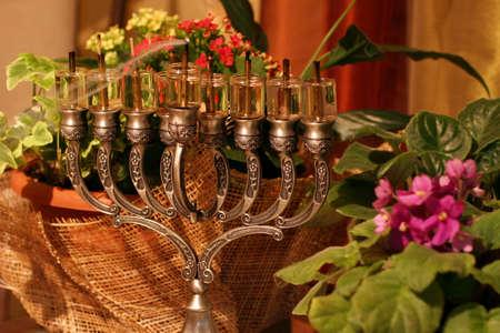 menora: Golden Hanukkah menorah