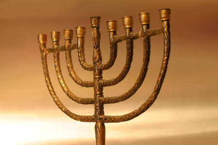 Golden Hanukkah menorah Stock Photo - 912460