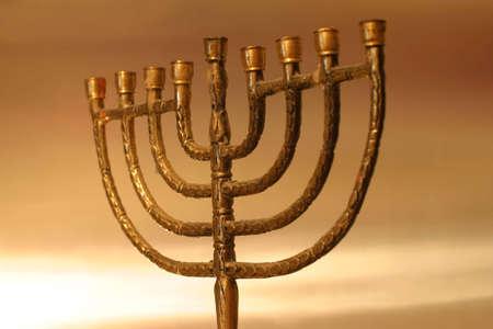 Golden Hanukkah menorah Stock Photo - 912460