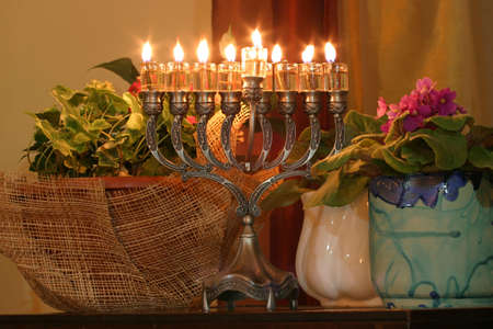 Golden Hanukkah menorah Stock Photo - 912462
