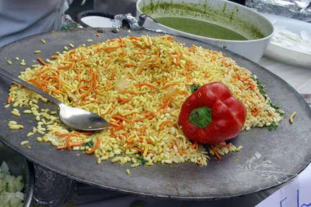 Alimentos indio, amarillo y naranja