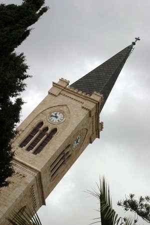 Church under grey sky, Jaffa, Israel. Stock Photo - 912473