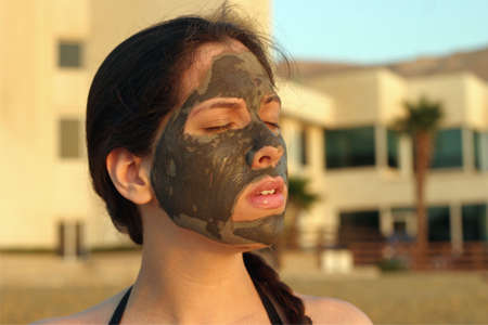 mud mask Stock Photo
