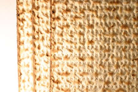 Matzo - Jewish Passover bread. Stock Photo