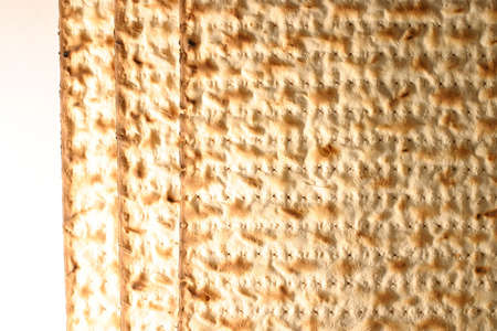 Matzo - Jewish Passover bread. Stock Photo