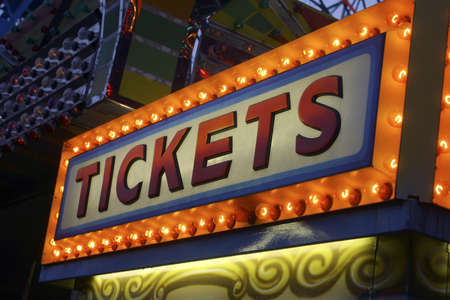 Ticket booth sign Stock Photo - 915679