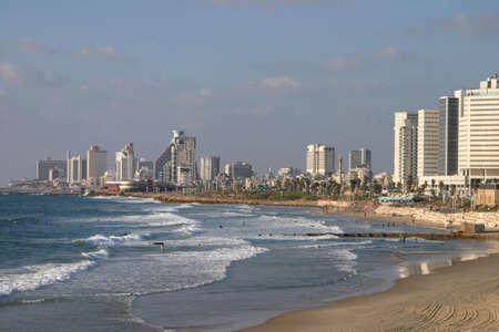 L�nea de la costa de Tel Aviv Foto de archivo