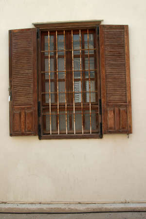 Old window,rusty and old