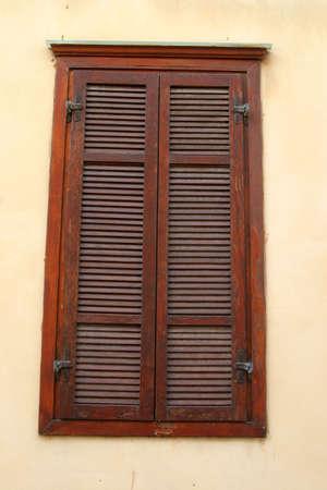 Old window - renovated, in Neve Tzedek, Tel Aviv Stock Photo