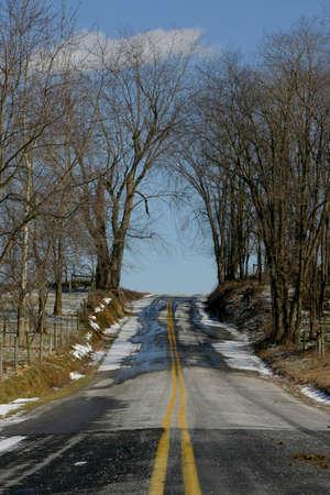 Deserted road, Lancaster, Pennsylvania (Amish County) Stock Photo - 915462