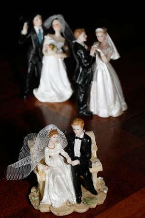 Three couples - bride and groom dolls Stock Photo - 915463