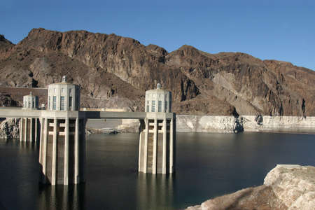 meade: Hoover Dam  Lake Meade , USA Stock Photo
