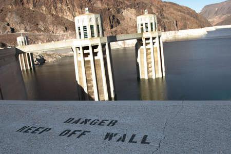 Hoover Dam  Lake Meade , USA Stock Photo