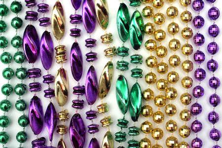 Mardi Gras bolas - de color verde, oro, p�rpura