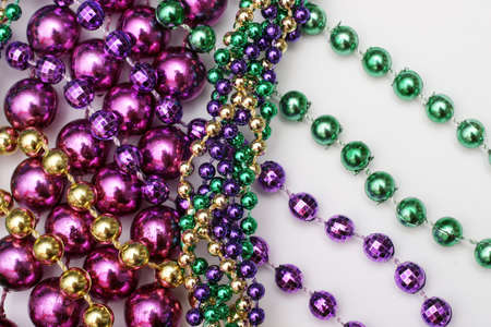mardi: Mardi Gras beads - green, gold, purple