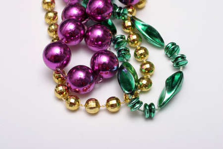 Mardi Gras beads - green, gold, purple Stock Photo - 915487