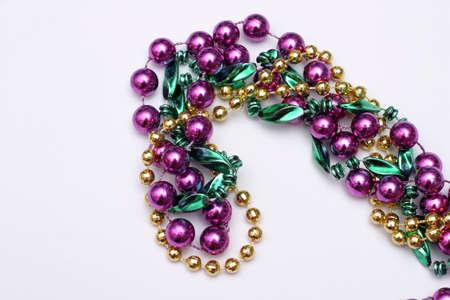 Mardi Gras beads - green, gold, purple Stock Photo - 915489