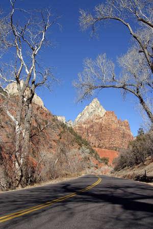 Zion Canyon, Utah (at winter) Stock Photo