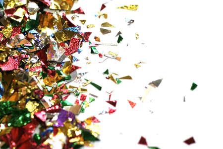 confetti, macro, shallow DOF, room for copy. Stock Photo