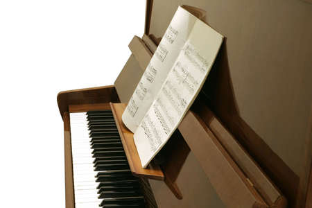 Piano & notes. Stock Photo