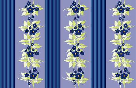 victorian wallpaper - blue