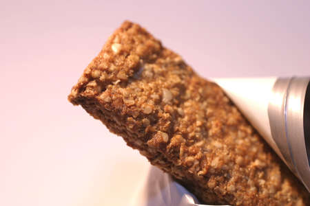 Granola bar, macro, shallow DOF Stock Photo