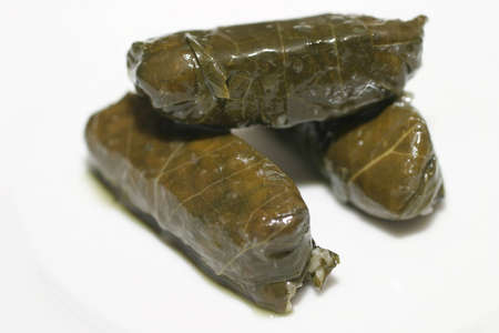 Dolmades (Vine leafs Stock Photo