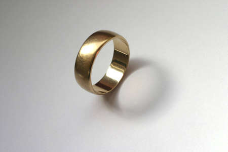 gold wedding ring. Stock Photo