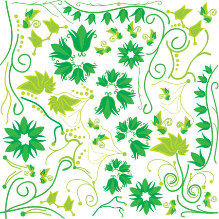floral pattern that matches from all sides Stock Vector - 951511