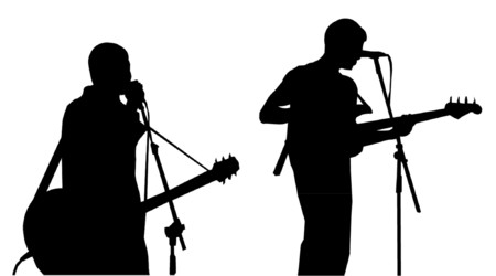 musicians silhouettes royalty free cliparts vectors and stock
