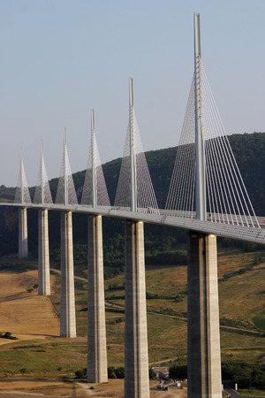 The Millau Bridge - the world's tallest bridge in southern France. Stock Photo - 1405287