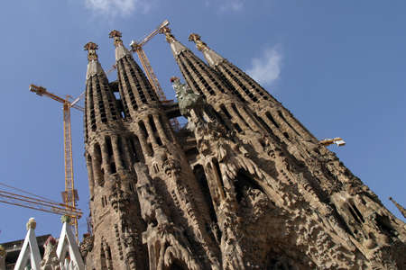 The famous Sagrada Familia church in Barcelona, Spain Stock Photo - 1405289