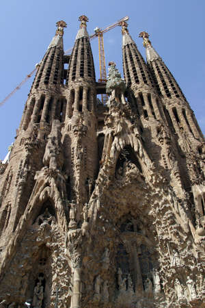 The famous Sagrada Familia church in Barcelona, Spain Stock Photo - 1405291