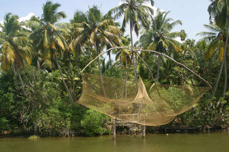 chinese fishing nets: Chinese fishing nets (Cheena vala), Kerala, India