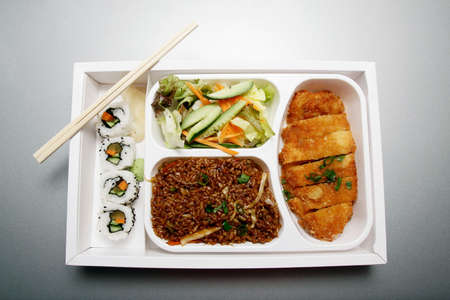 Bento box - Japanese cuisine fast food Stock Photo - 3274859