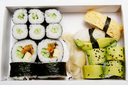 Bento box, Vegetarian Sushi - Japanese cuisine fast food