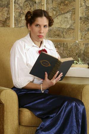 Young Jewish woman holding a holy book. (Jewish Mahzor - holiday prayer book) Stock Photo - 3274857
