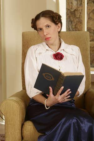 Young Jewish woman holding a holy book. (Jewish Mahzor - holiday prayer book) Stock Photo - 3274855