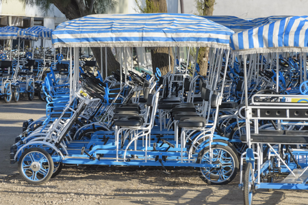Rent of Velomobiles for excursion, tour in park. Leisure activities and holidays in Agamon Hula, Israel