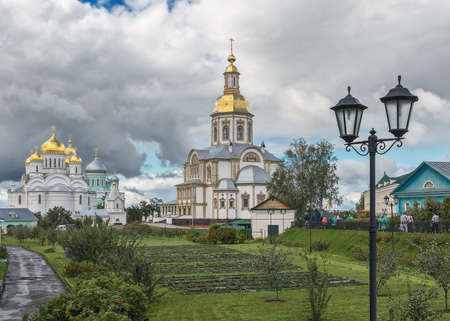 Seraphim-Diveyevo Convent. Cathedrals in the rural locality Diveyevo, Nizhny Novgorod Oblast. Overall view