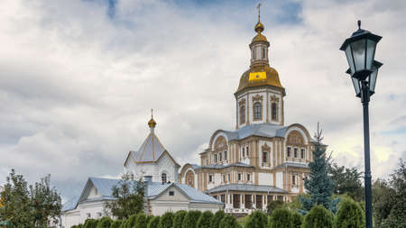 Cathedral of the Annunciation in the rural locality Diveyevo, Nizhny Novgorod Oblast. Seraphim-Diveyevo Convent Overall view