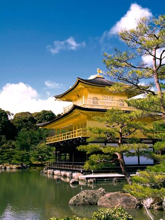 the world cultural heritage: Golden Pavilion Temple (Kyoto) is one of Japans most famous temples. World Heritage listed, and it is truly unique. Editorial