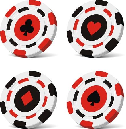 gambling chip: fichas de poker de vectores  Vectores