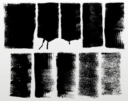 ensemble de traits détaillés grunge rouleaux à peindre