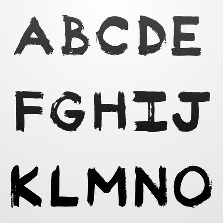 graffiti alphabet: grunge Graffiti Alphabets font