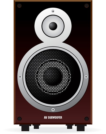 vector sub woofer speaker Illustration
