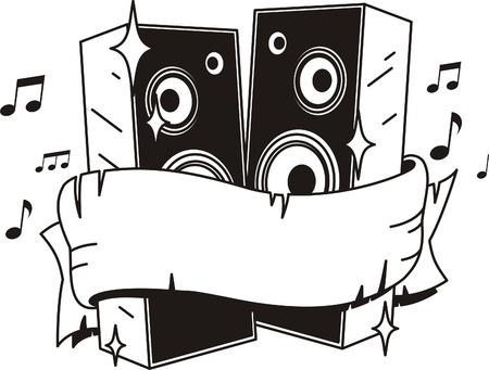 loud speakers: vector loud speakers  tattoo style