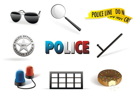 665 Police Flashing Light Stock Vector Illustration And Royalty ...