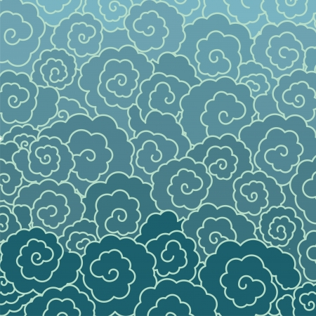 Japanese cloud or water pattern Vector